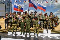 Esercito Games-2017 Concorso Tjumen'della via sicura La Russia Immagini Stock Libere da Diritti