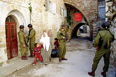 ESERCITO ISRAELIANO SULLA CISGIORDANIA Immagine Stock Libera da Diritti