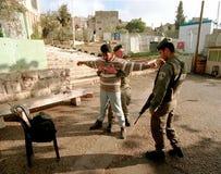 ESERCITO ISRAELIANO SULLA CISGIORDANIA Fotografia Stock