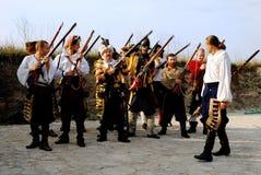 Esercito medioevale immagini stock