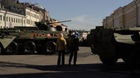 Esercito nella città Immagine Stock Libera da Diritti