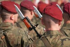 Esercito polacco in Bielsko-Biala, Polonia Fotografie Stock Libere da Diritti