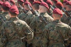 Esercito polacco in Bielsko-Biala, Polonia Fotografie Stock