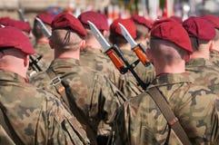Esercito polacco durante la parata in Bielsko-Biala, Polonia Immagine Stock