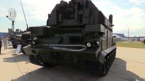 Esercito russo SA-15 guantone di protezione (TOR-M1) Sistema missilistico tattico di NMD stock footage