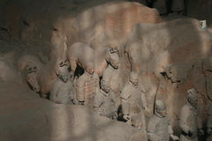 Esercito Xian/Xi'an, Cina di terracotta Fotografie Stock Libere da Diritti