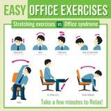 Esercizi dell'ufficio con il carattere dell'uomo d'affari Vettore infographic royalty illustrazione gratis