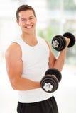 Esercizi dell'uomo di forma fisica Immagini Stock Libere da Diritti