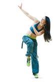Esercizi di forma fisica di dancing di Zumba Fotografie Stock
