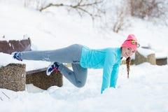 Esercizi nell'aura di inverno Fotografia Stock Libera da Diritti
