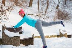 Esercizi nell'aura di inverno Immagine Stock