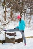 Esercizi nell'aura di inverno Fotografia Stock