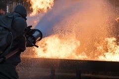 Esercizio antincendio di base Immagini Stock Libere da Diritti