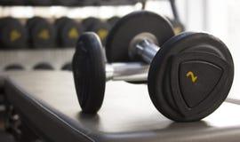 Esercizio con i pesi Fotografia Stock