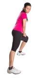 Esercizio d'allungamento asiatico femminile I Fotografia Stock