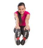 Esercizio d'allungamento asiatico femminile II Fotografia Stock Libera da Diritti