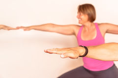 Esercizio di yoga Fotografie Stock Libere da Diritti