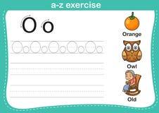 Esercizio di a-z di alfabeto Fotografie Stock