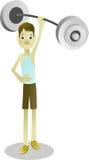 Esercizio e sollevamento pesi di forza muscolare per le ossa sane Fotografia Stock