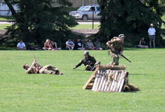 Esercizio militare Fotografie Stock Libere da Diritti