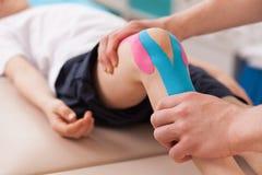 Esercizio per il ginocchio Immagini Stock