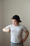 Esercizio potente spesso di sport del muscolo di addestramento di forza del bambino del ragazzo forte Immagini Stock