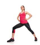 Esercizio relativo alla ginnastica di forma fisica della donna Immagine Stock