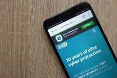 Free ESET Website Displayed On A Modern Smartphone Royalty Free Stock Photo - 135527845