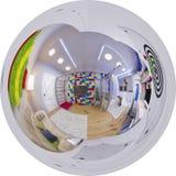 360 esféricos panorama sem emenda da sala do ` s das crianças Imagem de Stock