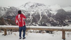 ESF -滑雪老师 免版税库存图片