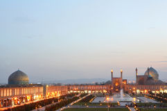 esfahan伊朗晚上视图 库存图片