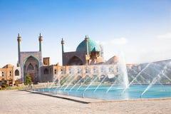 esfahan μουσουλμανικό τέμενος του Ιράν abbasi jame στοκ εικόνα
