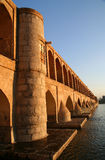 Esfahan Bridge. Beautiful old bridge in Esfahan in Iran royalty free stock images