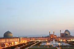 esfahan iran nattsikt arkivbilder