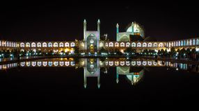 Esfahan main square during nightime stock photo
