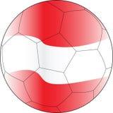 Esfera Áustria do vetor do futebol Foto de Stock
