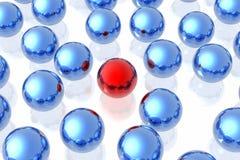 Esfera única roja stock de ilustración