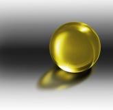 esfera 3d de cristal em um ambiente 3d ilustração royalty free