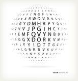 esfera 3D del texto Fotografía de archivo