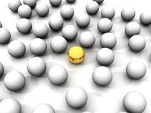 esfera 3D dourada ilustração stock