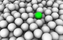 esfera 3D verde Fotos de Stock