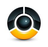 esfera 3D y pedazos quebrados Fotografía de archivo