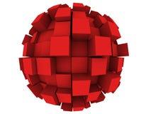 Esfera abstracta 3d Imagen de archivo libre de regalías