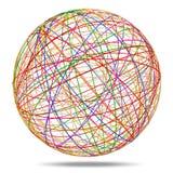 Esfera abstracta colorida en el fondo blanco Imagenes de archivo