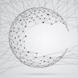 Esfera abstracta de compuestos con los puntos Fotografía de archivo libre de regalías