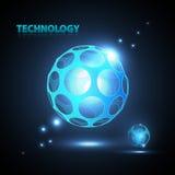 Esfera abstracta de la tecnología 3d. Fotos de archivo