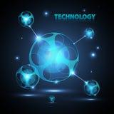 Esfera abstracta de la tecnología 3d. Imágenes de archivo libres de regalías
