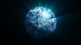 Esfera abstracta del remolino con efecto del brillo Fotografía de archivo libre de regalías