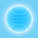 Esfera abstracta del vector Imagen de archivo libre de regalías