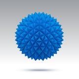 Esfera abstracta del vector con las caras triangulares Fotos de archivo libres de regalías